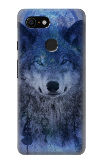 Printed Wolf Dream Catcher Google Pixel 3 Case
