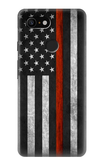 Printed Firefighter Thin Red Line Flag Google Pixel 3 Case