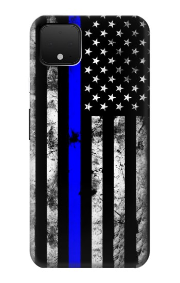 Printed Thin Blue Line USA Google Pixel 4 Case