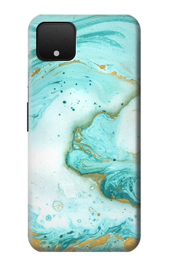 Printed Green Marble Graphic Print Google Pixel 4 Case