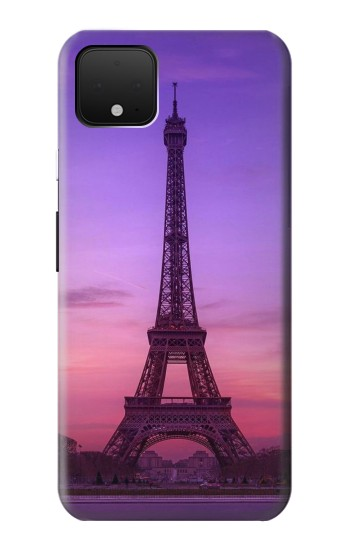 Printed Eiffel Paris Sunset Google Pixel 4 Case
