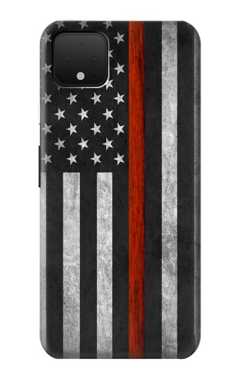Printed Firefighter Thin Red Line Flag Google Pixel 4 Case