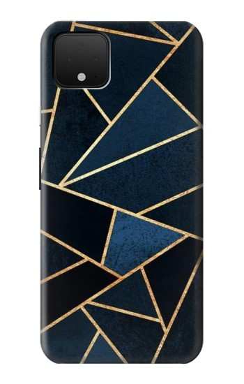 Printed Navy Blue Graphic Art Google Pixel 4 Case