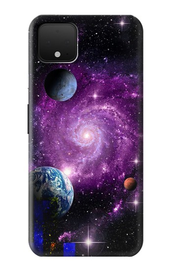 Printed Galaxy Outer Space Planet Google Pixel 4 Case