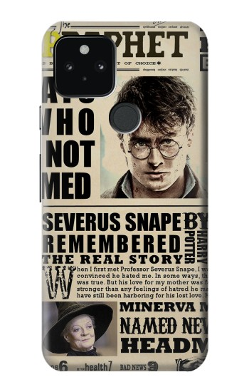 Printed Harry Potter Daily Prophet Google Pixel 5 Case