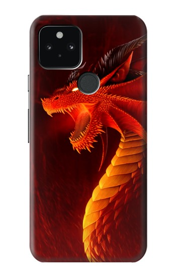 Printed Red Dragon Google Pixel 5 Case