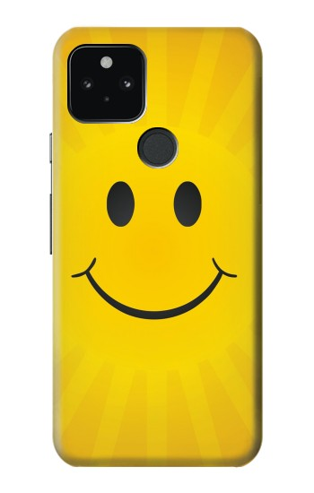 Printed Yellow Sun Smile Google Pixel 5 Case