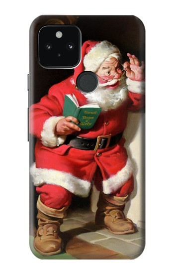 Printed Santa Claus Merry Xmas Google Pixel 5 Case