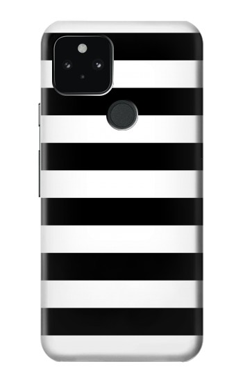 Printed Black and White Striped Google Pixel 5 Case