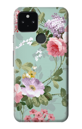 Printed Flower Floral Art Painting Google Pixel 5 Case