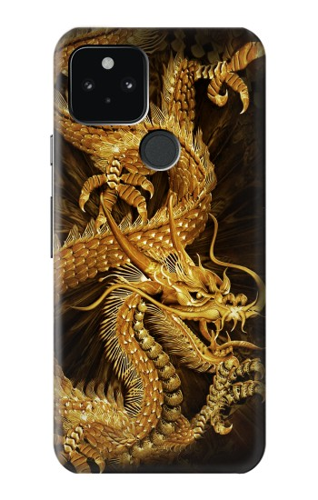 Printed Chinese Gold Dragon Printed Google Pixel 5 Case