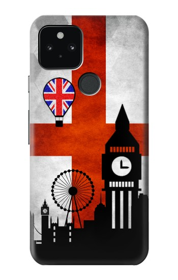 Printed England Football Flag Google Pixel 5 Case