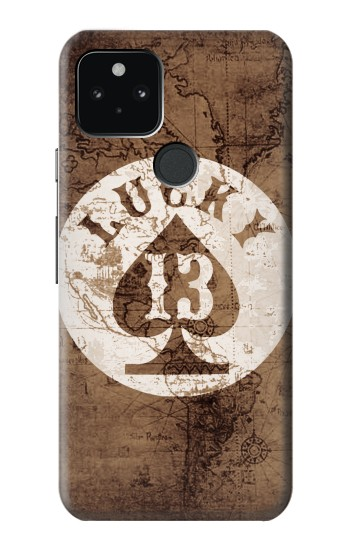 Printed Lucky 13 Old Map Google Pixel 5 Case