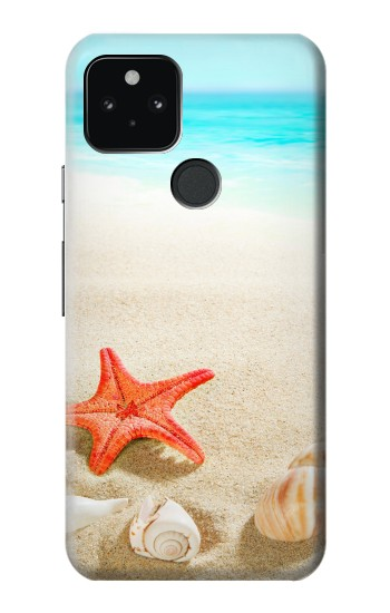 Printed Sea Shells Starfish Beach Google Pixel 5 Case