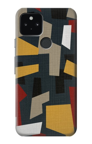 Printed Abstract Fabric Texture Google Pixel 5 Case