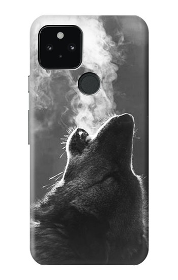 Printed Wolf Howling Google Pixel 5 Case