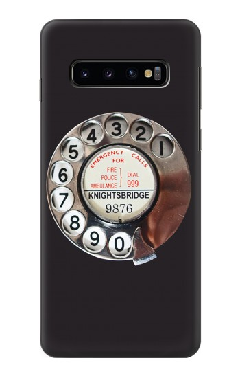 Printed Retro Rotary Phone Dial On Samsung Galaxy S10 Case