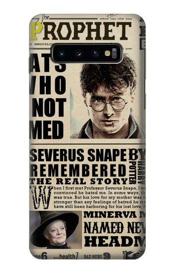 Printed Harry Potter Daily Prophet Samsung Galaxy S10 Case