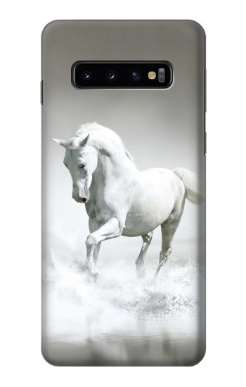 Printed White Horse Samsung Galaxy S10 Case