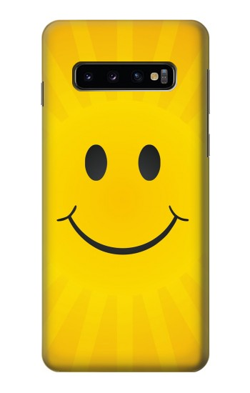 Printed Yellow Sun Smile Samsung Galaxy S10 Case