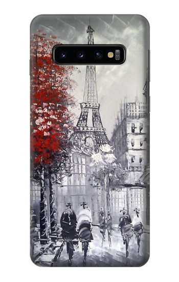 Printed Eiffel Painting of Paris Samsung Galaxy S10 Case
