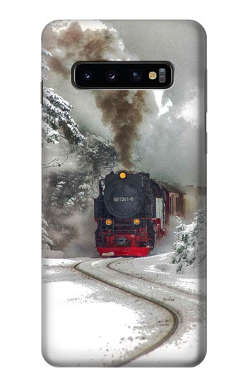 Printed Steam Train Samsung Galaxy S10 Case