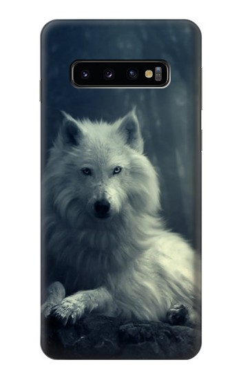 Printed White Wolf Samsung Galaxy S10 Case