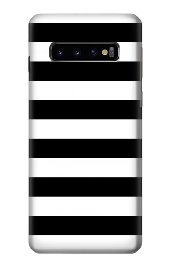 Printed Black and White Striped Samsung Galaxy S10 Case