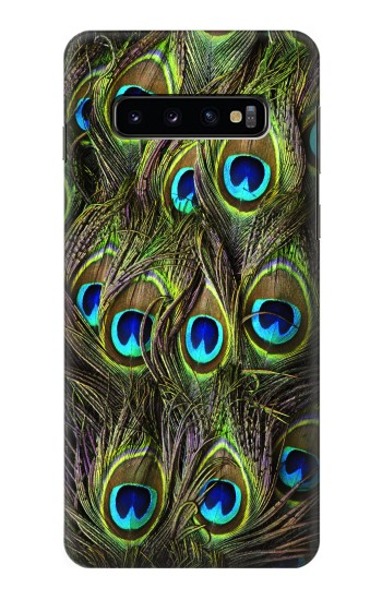 Printed Peacock Feather Samsung Galaxy S10 Case