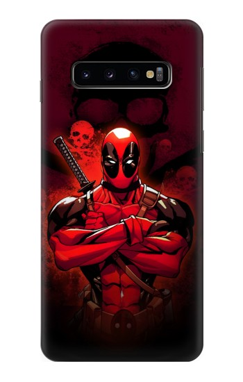 Printed Deadpool Skull Samsung Galaxy S10 Case