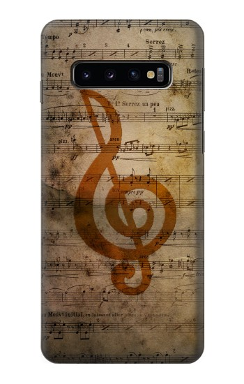 Printed Sheet Music Notes Samsung Galaxy S10 Case