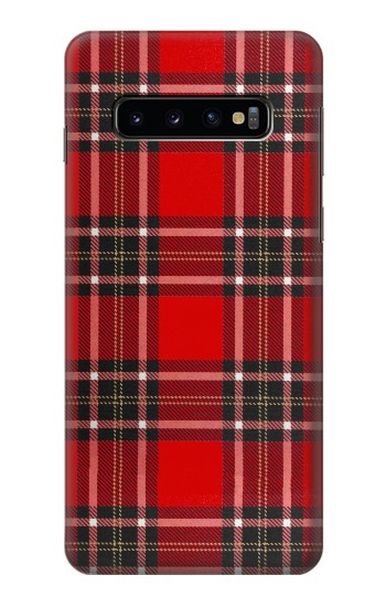 Printed Tartan Red Pattern Samsung Galaxy S10 Case