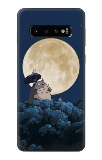 Printed Totoro Ocarina Moon Night Samsung Galaxy S10 Case