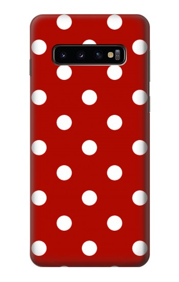 Printed Red Polka Dots Samsung Galaxy S10 Case
