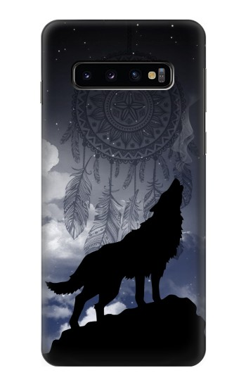 Printed Dream Catcher Wolf Howling Samsung Galaxy S10 Case