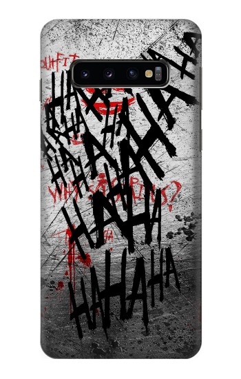 Printed Joker Hahaha Blood Splash Samsung Galaxy S10 Case