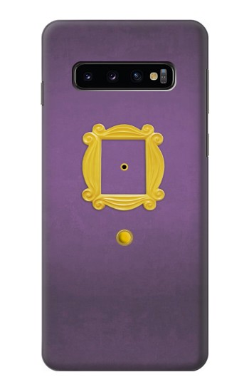 Printed Friends Purple Door Minimalist Samsung Galaxy S10 Case