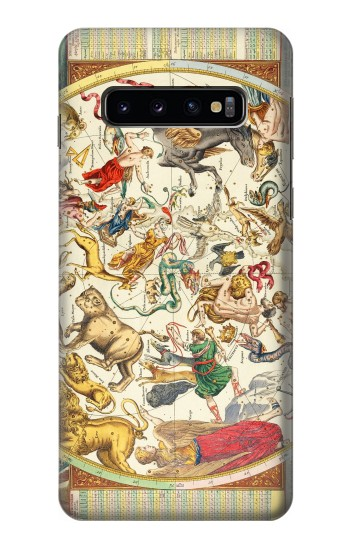 Printed Antique Constellation Map Samsung Galaxy S10 Case