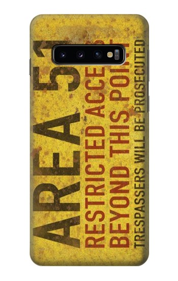 Printed Area 51 Restricted Access Warning Sign Samsung Galaxy S10 Case