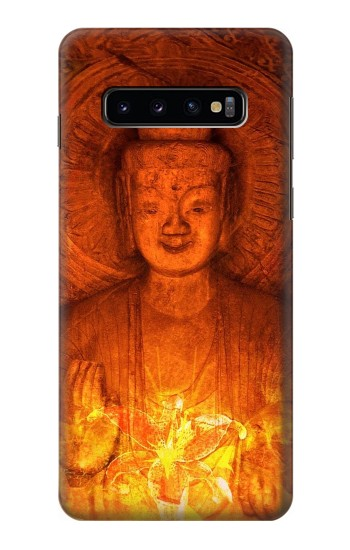 Printed Buddha Spiritual Holy Lights Samsung Galaxy S10 Case