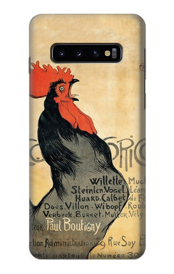 Printed Cocorico Rooster Vintage French Poster Samsung Galaxy S10 Case