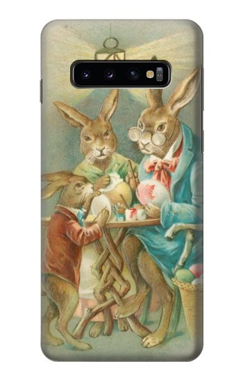 Printed Easter Rabbit Family Samsung Galaxy S10 Case