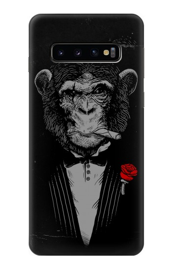 Printed Funny Monkey God Father Samsung Galaxy S10 Case