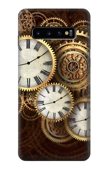 Printed Gold Clock Live Samsung Galaxy S10 Case