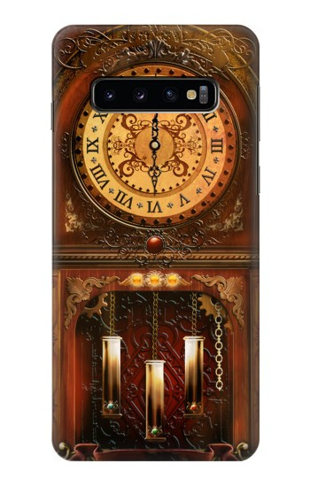 Printed Grandfather Clock Samsung Galaxy S10 Case