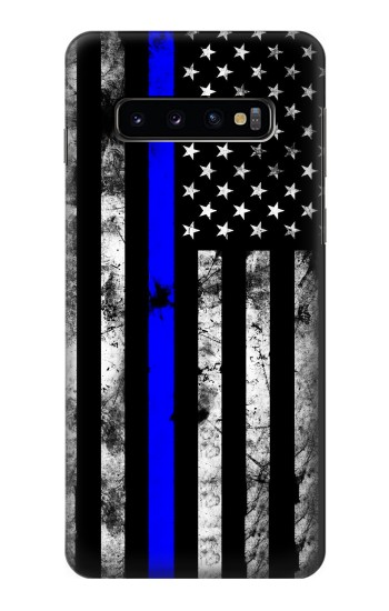 Printed Thin Blue Line USA Samsung Galaxy S10 Case
