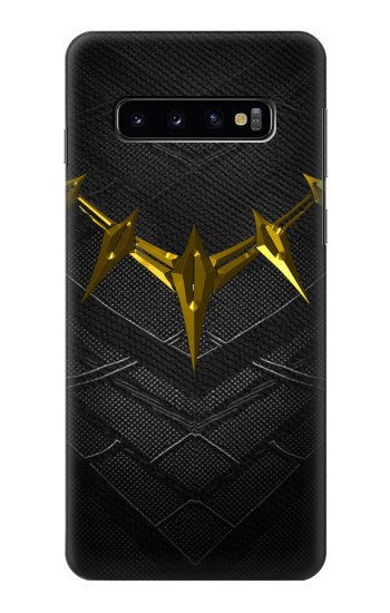 Printed Black Panther Inspired Costume Gold Necklace Samsung Galaxy S10 Case