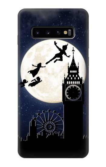 Printed Peter Pan Fly Fullmoon Night Samsung Galaxy S10 Case