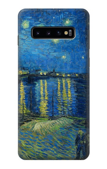 Printed Van Gogh Starry Night Over Rhone Samsung Galaxy S10 Case