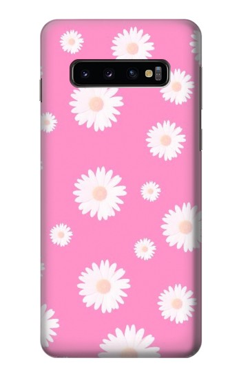 Printed Pink Floral Pattern Samsung Galaxy S10 Case